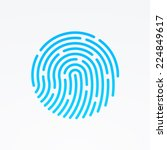 id app icon. fingerprint vector ... | Shutterstock .eps vector #224849617
