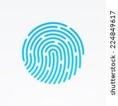 id app icon. fingerprint vector ... | Shutterstock .eps vector #224849617