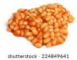 baked beans in tomato sauce | Shutterstock . vector #224849641