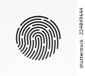 id app icon. fingerprint vector ... | Shutterstock .eps vector #224849644