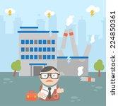 businessman crisis factory   Shutterstock .eps vector #224850361