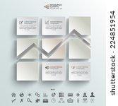 abstract vector infographic...   Shutterstock .eps vector #224851954