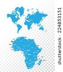 world map  vector | Shutterstock .eps vector #224853151