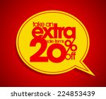 take an extra 20  off speech... | Shutterstock .eps vector #224853439