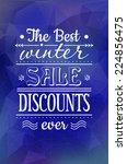vintage sale discount winter... | Shutterstock .eps vector #224856475