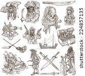 pirates  buccaneers and sailors ...   Shutterstock . vector #224857135