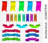 illustration of colored ribbons ... | Shutterstock . vector #224857945