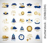 christmas icons and elements... | Shutterstock .eps vector #224861041