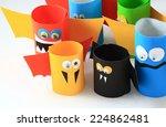 paper bats. | Shutterstock . vector #224862481