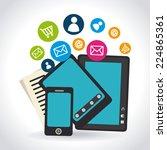 marketing design over white... | Shutterstock .eps vector #224865361