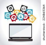 marketing design over white...   Shutterstock .eps vector #224865364