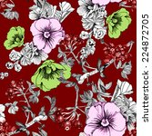 floral seamless pattern with... | Shutterstock . vector #224872705