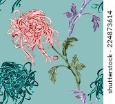 floral seamless pattern with... | Shutterstock . vector #224873614