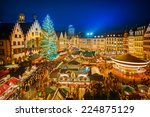 traditional christmas market in ... | Shutterstock . vector #224875129