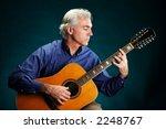 Portrait Of A Guitarist Playin...