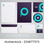 stationery template with speech ... | Shutterstock .eps vector #224877571