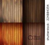 set of vector wood texture... | Shutterstock .eps vector #224884354