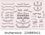 the set of hand drawn vector... | Shutterstock .eps vector #224885611