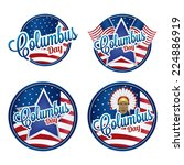 abstract columbus day symbols... | Shutterstock .eps vector #224886919