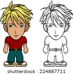 cartoon vector illustration of... | Shutterstock .eps vector #224887711