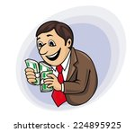 smiling and cheerful... | Shutterstock .eps vector #224895925