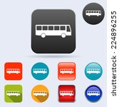 bus flat vector icons collection | Shutterstock .eps vector #224896255