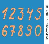 set of isolated digits of... | Shutterstock . vector #224897101