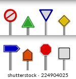 set of blank road sign.... | Shutterstock .eps vector #224904025