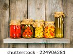 Preserved Food In Glass Jars ...