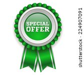 green special offer badge with...   Shutterstock .eps vector #224907091