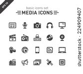 media icons set. | Shutterstock .eps vector #224909407