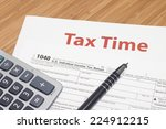 income taxes | Shutterstock . vector #224912215