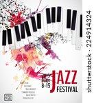 jazz music festival  poster... | Shutterstock .eps vector #224914324