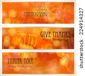Three Thanksgiving Banners....
