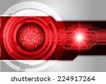 dark red light abstract... | Shutterstock .eps vector #224917264