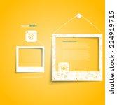 vector white frames on the... | Shutterstock .eps vector #224919715