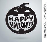 halloween symbols pumpkin ...   Shutterstock .eps vector #224923594