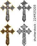 ghotic cross design   Shutterstock .eps vector #224925205