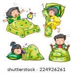 illustration of boys and girls... | Shutterstock .eps vector #224926261