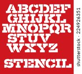 military stencil typeface.... | Shutterstock .eps vector #224926351
