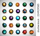 3d globe icons set   isolated... | Shutterstock .eps vector #224929585