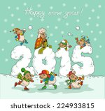 cute winter chinese new year... | Shutterstock .eps vector #224933815