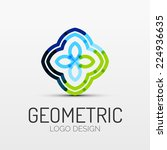 abstract geometric shape icon ... | Shutterstock . vector #224936635