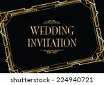 art deco style background | Shutterstock .eps vector #224940721