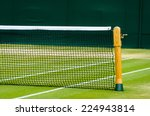 lawn tennis court and net | Shutterstock . vector #224943814