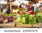 Market Stall With Variety Of...