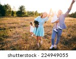 happy family  young father with ...   Shutterstock . vector #224949055
