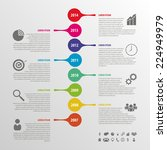 flat colorful abstract timeline ... | Shutterstock .eps vector #224949979
