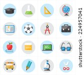 flat icons for education icons... | Shutterstock .eps vector #224957041