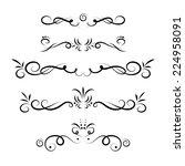calligraphic design elements... | Shutterstock . vector #224958091